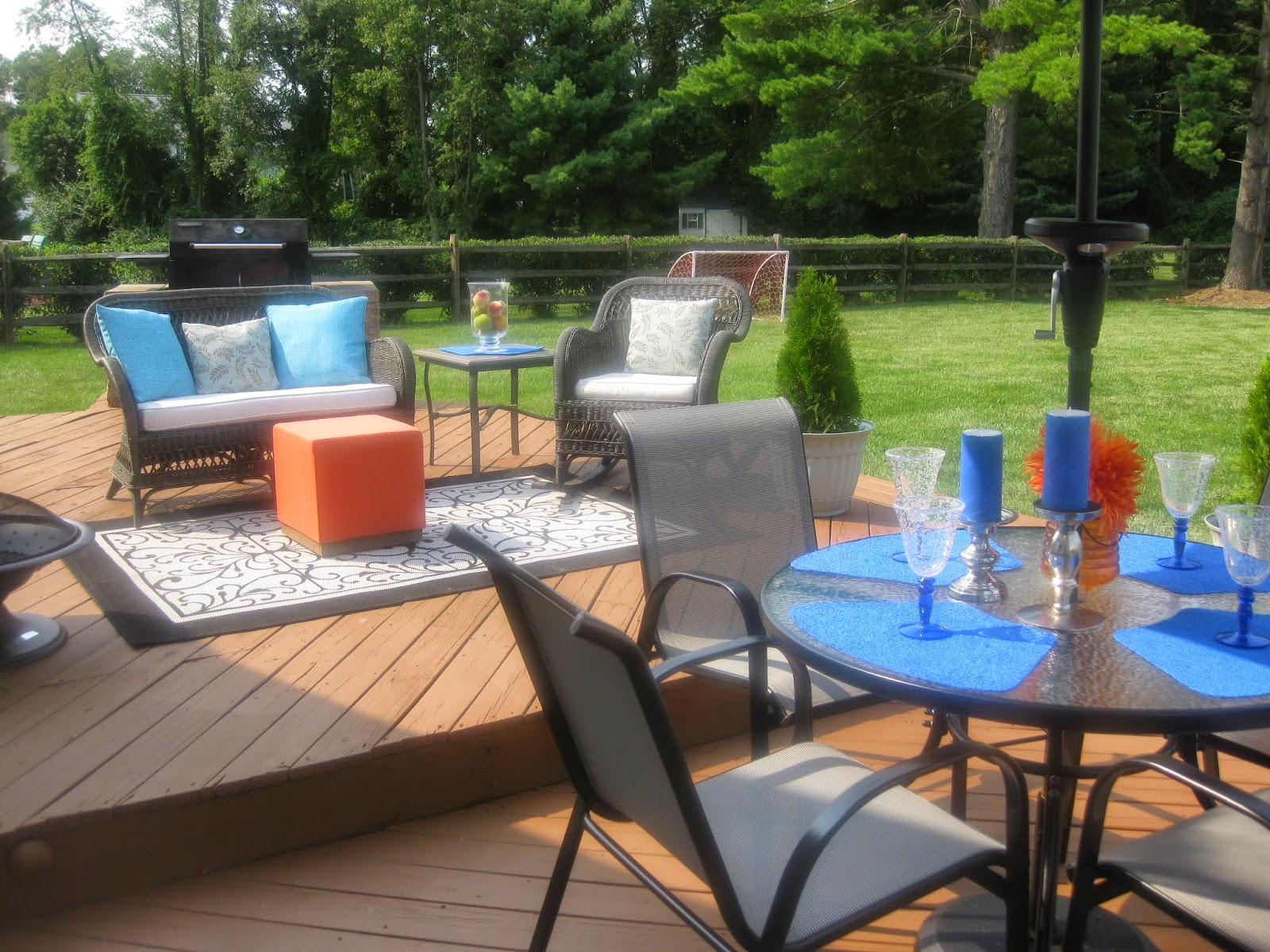 Patio/deck furniture layout