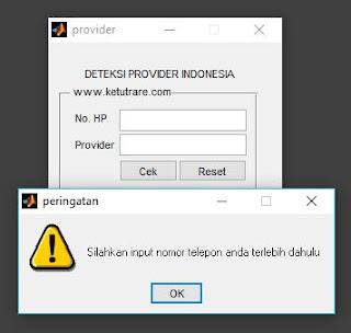 error checking tanpa inputan nomor telepon