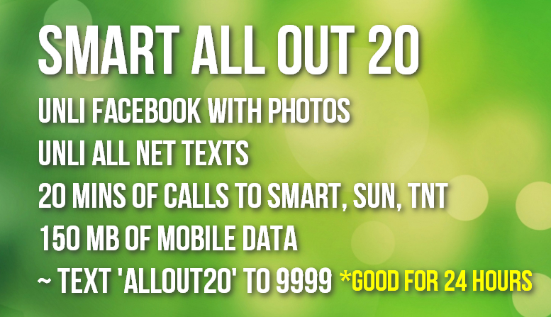 Smart All Out 20 Prepaid Promo