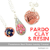 Translucent Real Flower Jewelry Tutorial  using Pardo Clay and Resin