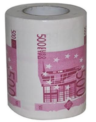 Rouleau de papier toilette pour trader