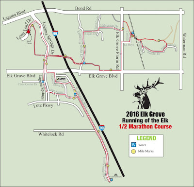 Traffic Detours, Closures in Effect For Sunday's Running of the Elk Half Marathon