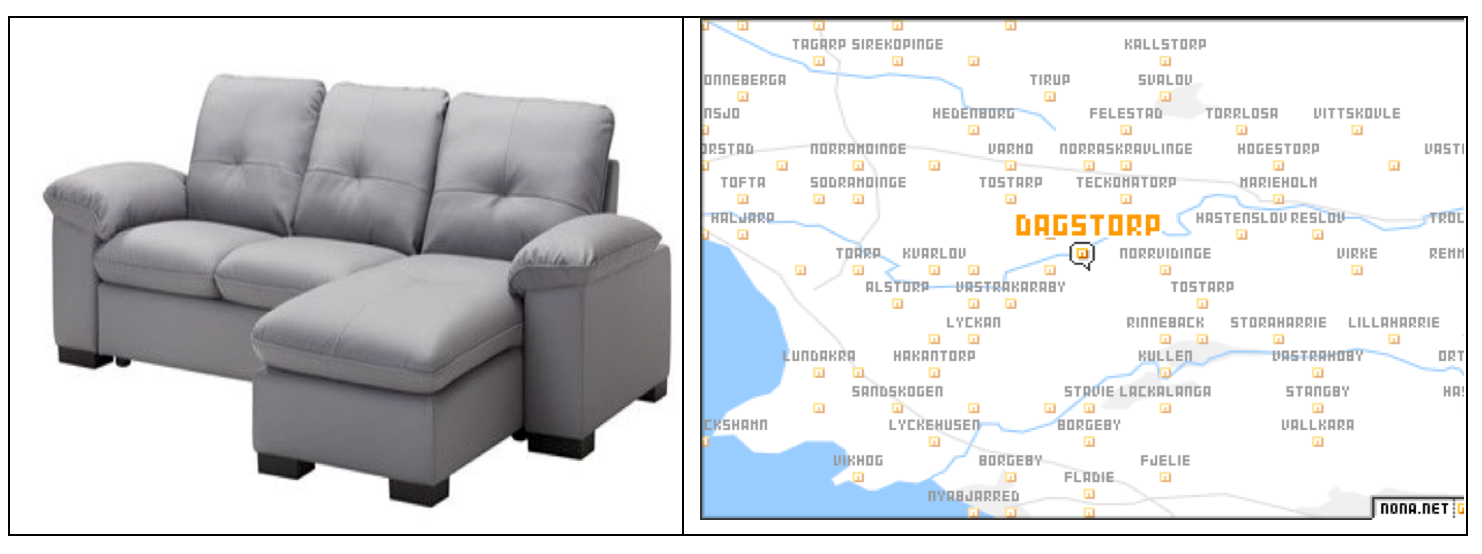 many of its products are named for scandinavian places ikea you mean like the dagstorp couch