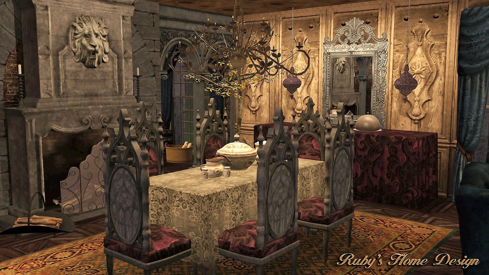 My Sims 3 Blog Gothic Mansion By Ruby Red