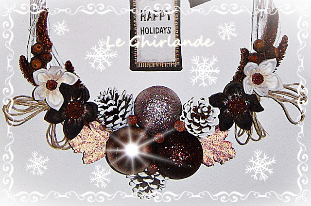 Ghirlanda Natale Bronzo e Marrone