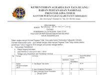 Penerimaan Pegawai Tidak Tetap Pada Kantor Pertanahan Kabupaten Sidoarjo Besar Besaran Tahun Anggaran 2018