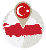 Turkish map and flag