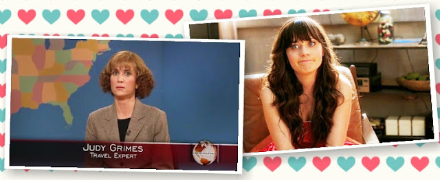 Judy Grimes and Jessica Day: AWKWARD.
