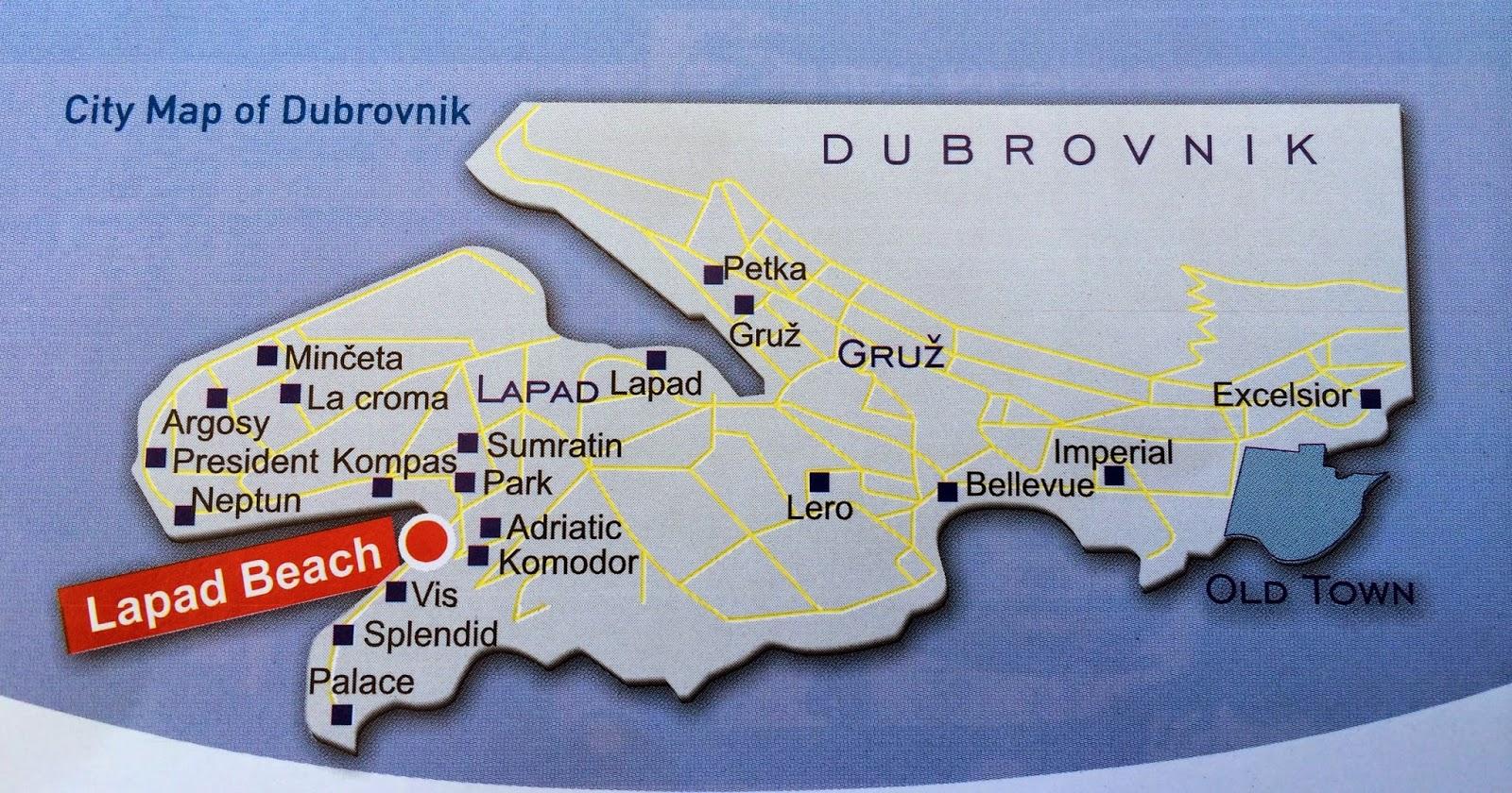 kart over dubrovnik Rose Maries litteratur  og filmblogg: Dubrovnik i Kroatia