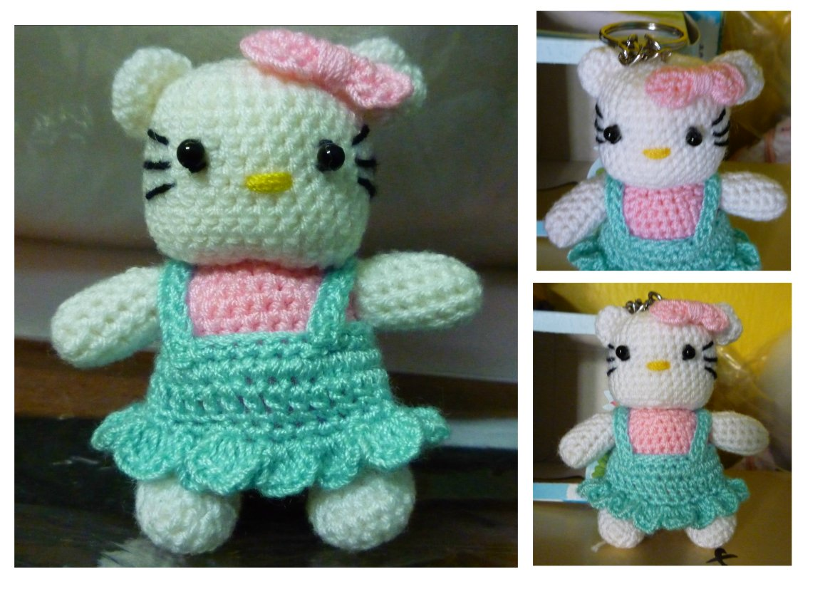Hello kitty lover 💞Amigurumi crochet kitty key chain❤️100 ... | 827x1165
