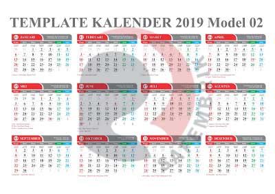 Download Template Kalender 2019 Indonesia