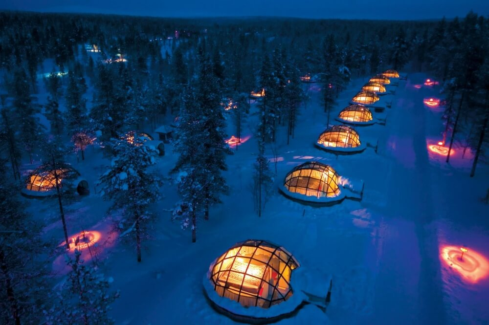 22 Stunning Hotels That Will Make You Want to Book Your Next Trip NOW! - Hotel Kakslauttanen, Finland