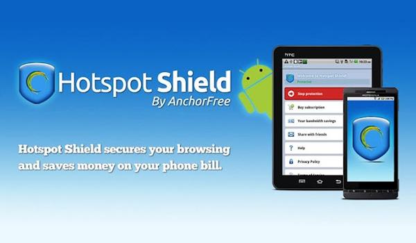 buka situs diblokir dengan Hotspot Shield