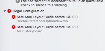 ios application development related illegal configuration safe