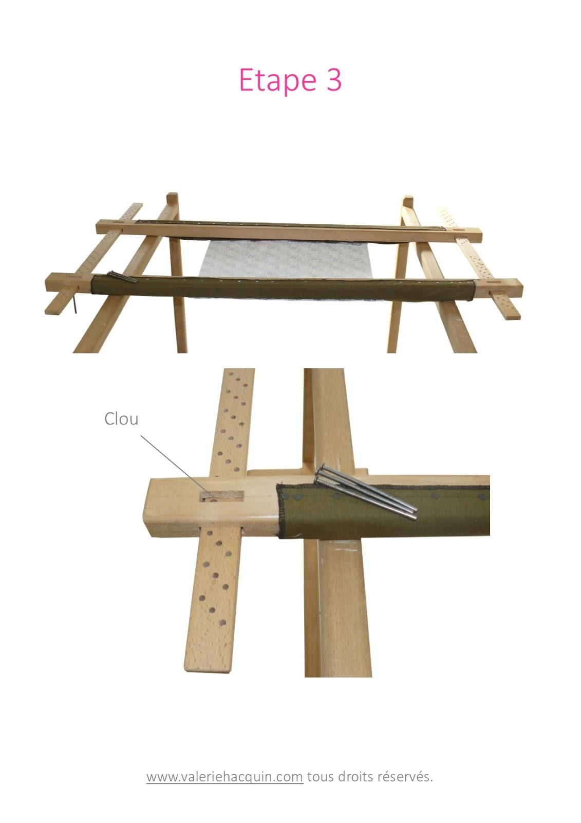 tutoriel comment monter un m tier broder. Black Bedroom Furniture Sets. Home Design Ideas