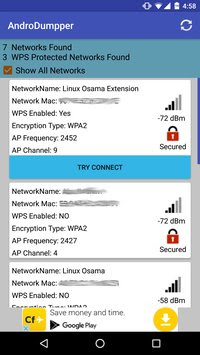 تحميل تطبيق وبرنامج AndroDumpper للدخول ومعرفة كلمة سر وباسورد شبكات الواي فاي