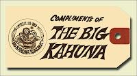 KHJ Big Kahuna Tiki Charm Tag (Front)