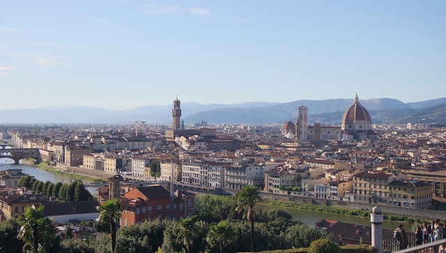 Panoramic views of Florence from Piazza Michelangelo