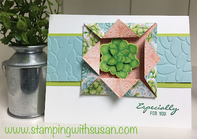 Stampin' Up!, Painted Seasons, Fun Fold, Botanical Bliss, Petal Burst