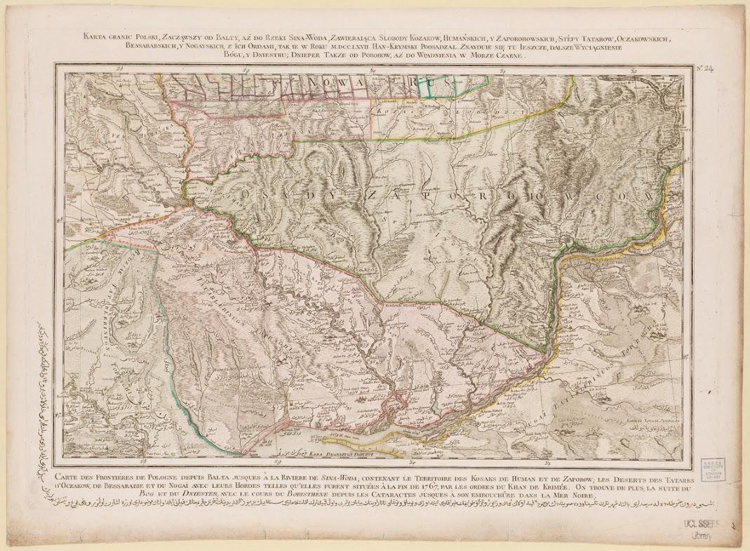 """Оригинальное название """"Rizzi Zannoni, Carte de la Pologne, 1772, ca 1:690  000"""". Судя по названию, быстрее всего, относится к военным картам."""