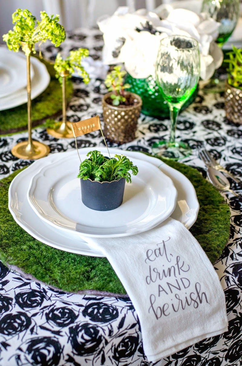 St. Patrick's Day Blogger Party - Moss Placemats