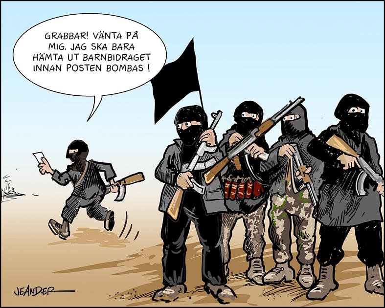 JEANDERS BILDBLOGG: Bidrag till IS-jihadist..
