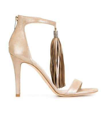 Jimmy Choo barely there heels with tassel