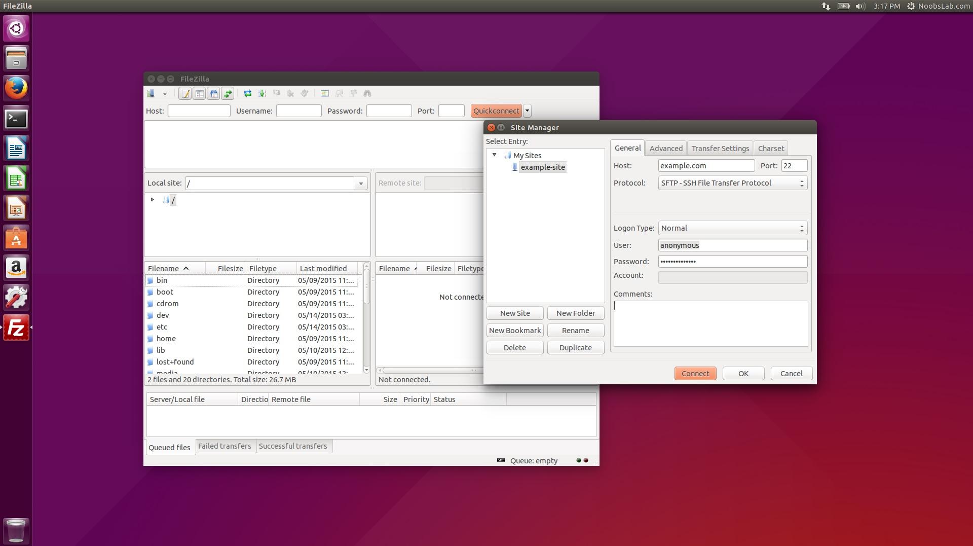 install filezilla linux terminal