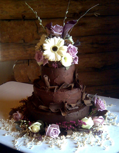 Chocolate Weddings Northern VA DC And MD Catering By Teatime - Fudge Wedding Cake