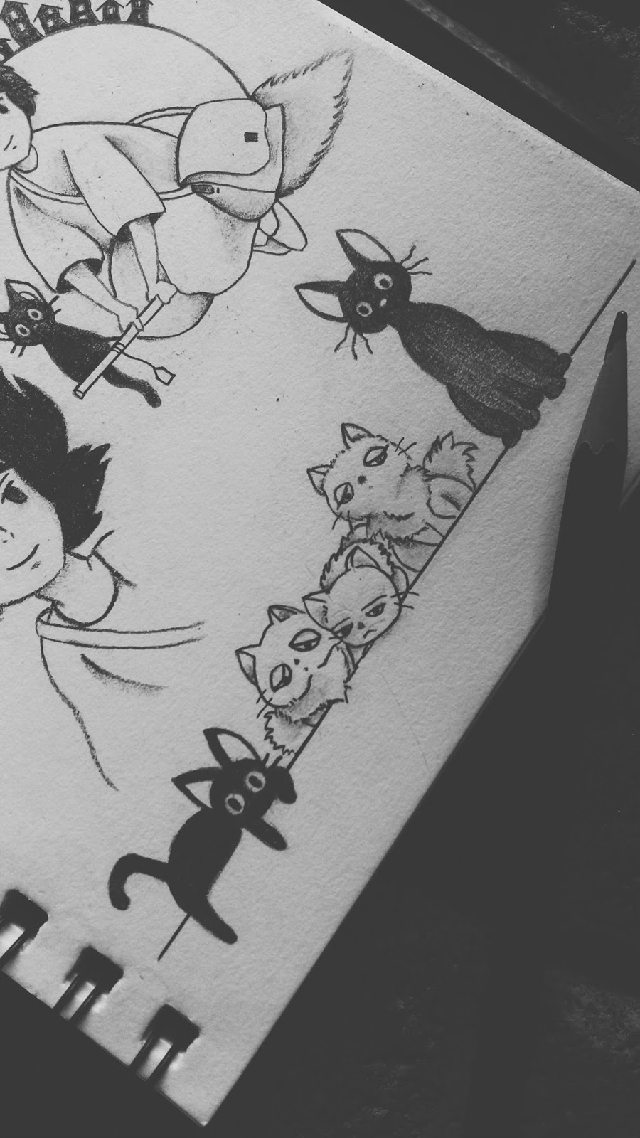 747f4d623 Jiji and Lily's Kittens Tattoo Design from Kiki's Delivery Service