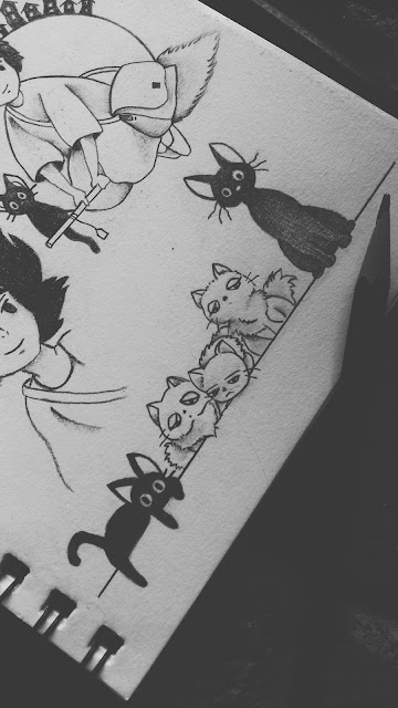 jiji and lily's kittens tattoo design