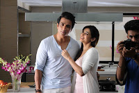 Actor Sonu Sood and Actress Sonal Chauhan Stills at Texmo Pipe Fittings Shooting  0002.jpg