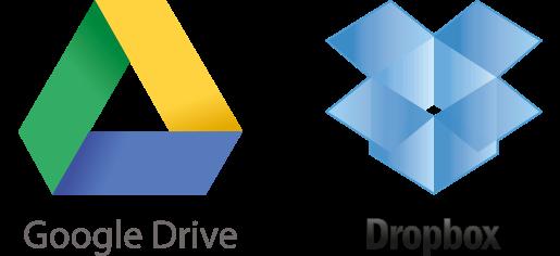 Envía tus archivos por Google Drive o DropBox