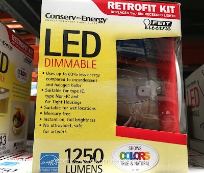 Costco 877982 - Save on the cost of energy with the Feit LED Dimmable Retrofit Kit
