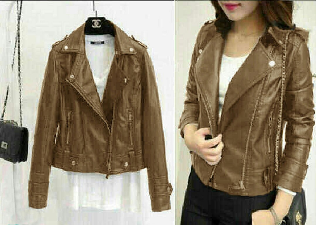 Jual Jacket / Sweater Jaket Morris Choco (Semi Kulit) - 13319