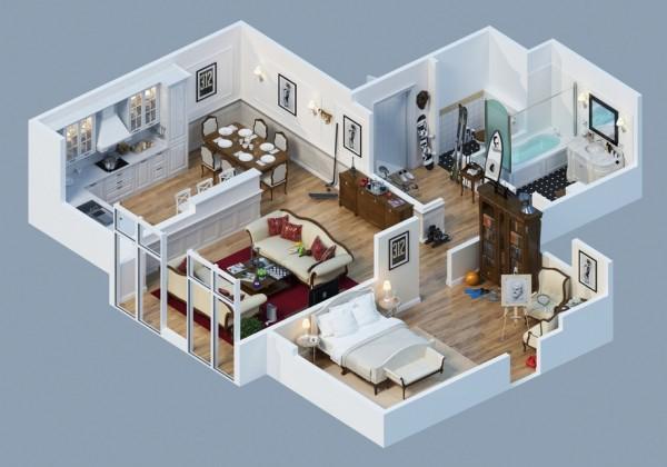 322+ Gambar Desain Apartemen 3d Paling Bagus