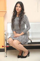 Actress Chandini Chowdary Pos in Short Dress at Howrah Bridge Movie Press Meet  0135.JPG