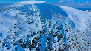 The alpine east face of Cnap Coire na Spreidhe in the Cairngorms