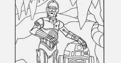 Sasaki Time: Craft Time: R2-D2 and C-3PO Coloring Page