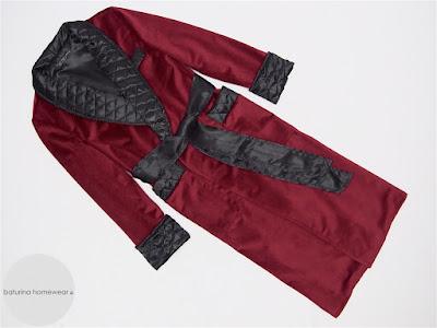 mens velvet dressing gown warm long dark red burgundy quilted silk shawl collar robe gentleman