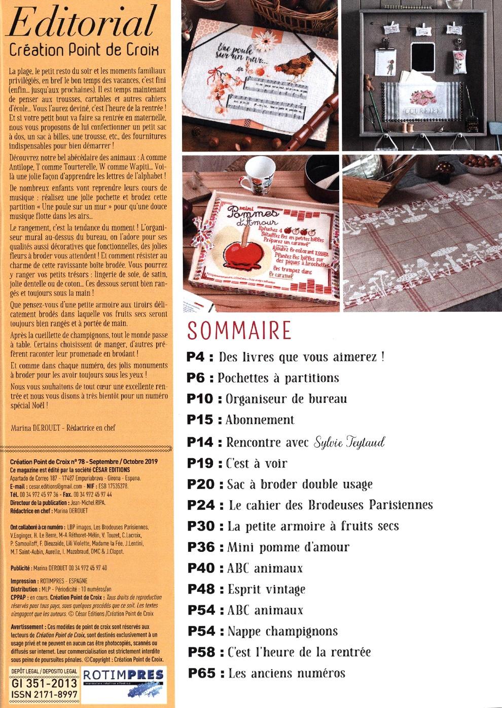 Журнал со схемами вышивки - Creation Point De Croix №78 2019 (3)