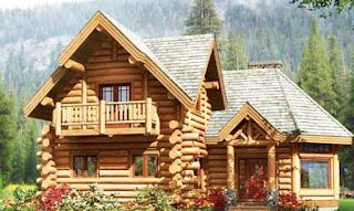 Rumah Kayu Minimalis Gaya Amerika