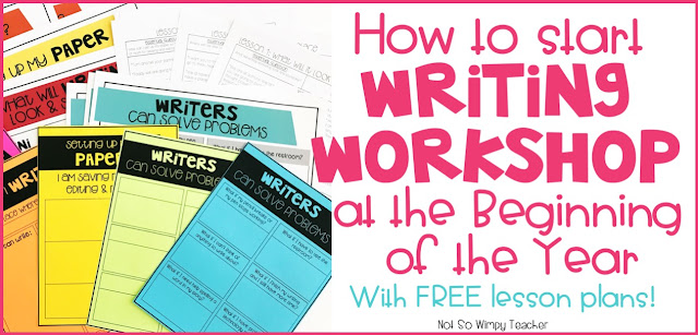Lessons to help you implement writing workshop at the beginning of the year. Free lesson plans and anchor charts!
