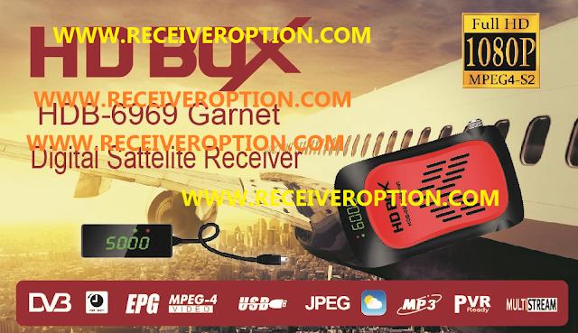 HD BOX HDB-6969 GARNET HD RECEIVER POWERVU KEY NEW SOFTWARE
