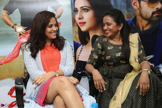Actress Suma in Black Salwar Suit and Anusuya in orange Dress at winner movie press meet part 2 February 2017 (63).JPG