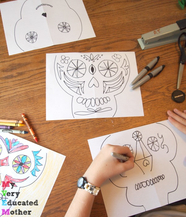 Drawing Day of the Dead masks with the kids is easier than you'd think! Read more about it here.