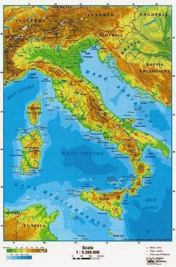 Italia Geografica Cartina Fisica.Cartina Fisica Dell Italia Da Colorare