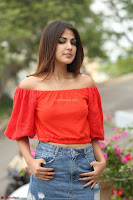 Rhea Chakraborty in Red Crop Top and Denim Shorts Spicy Pics ~  Exclusive 231.JPG