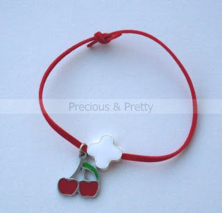 Cherry bracelet witness pins for girl M1
