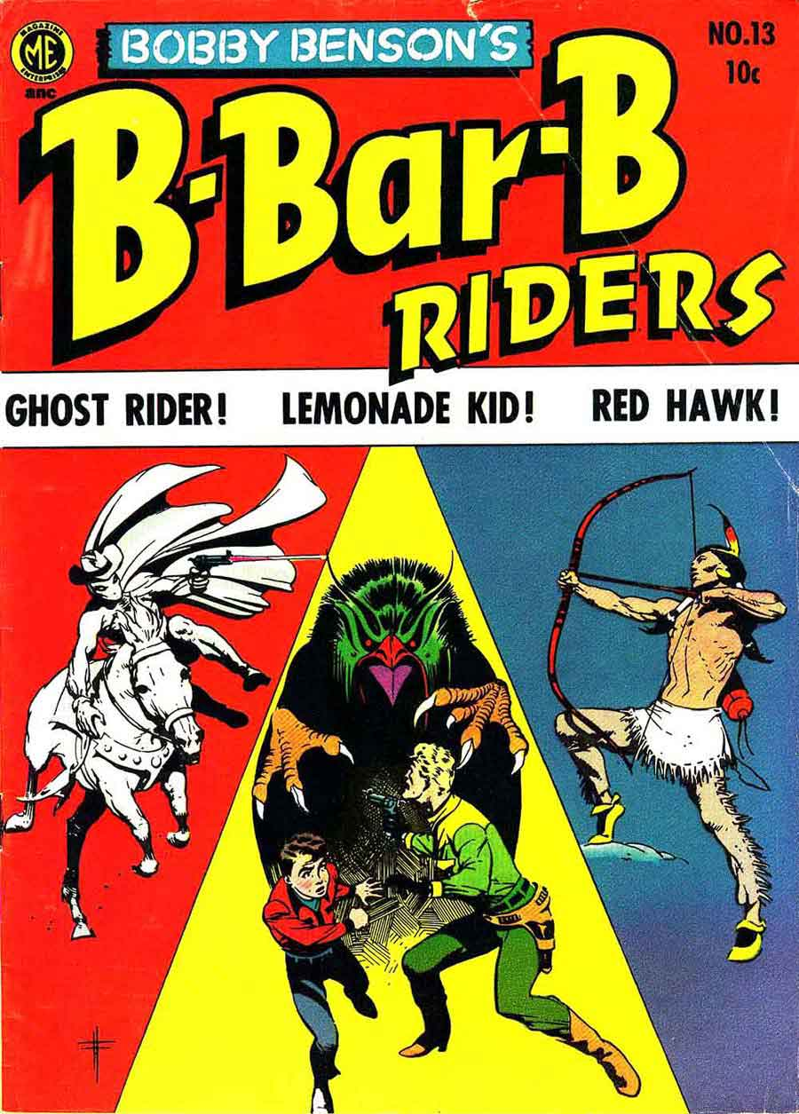 Bobby Benson's B-Bar-B Riders v1 #13 western comic book cover art by Frank Frazetta